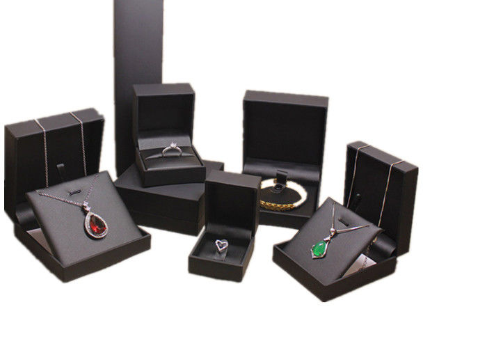 High Grade Leather Mens Jewelry Box Black Luxury Leather
