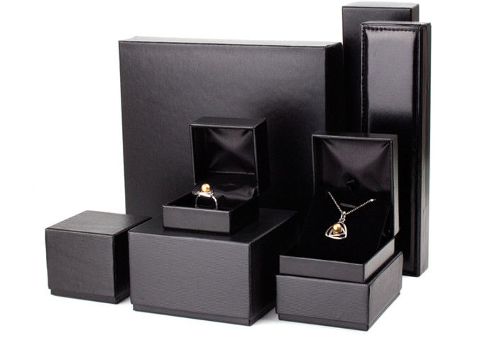 Empty Small Leather Jewelry Box Full Color Offset Printing Custom