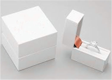 China White Elegant Ring Jewelry Box For Necklace Bracelet Watch Jewellery Gift Packaging factory