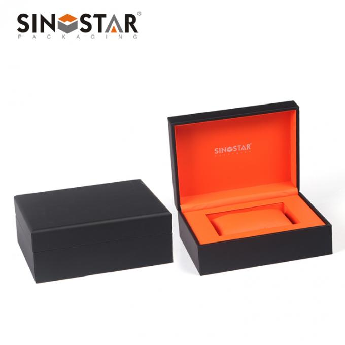 Rectangle Double Watch Box With Pillow  Faux Leather Surface Custom Packaing