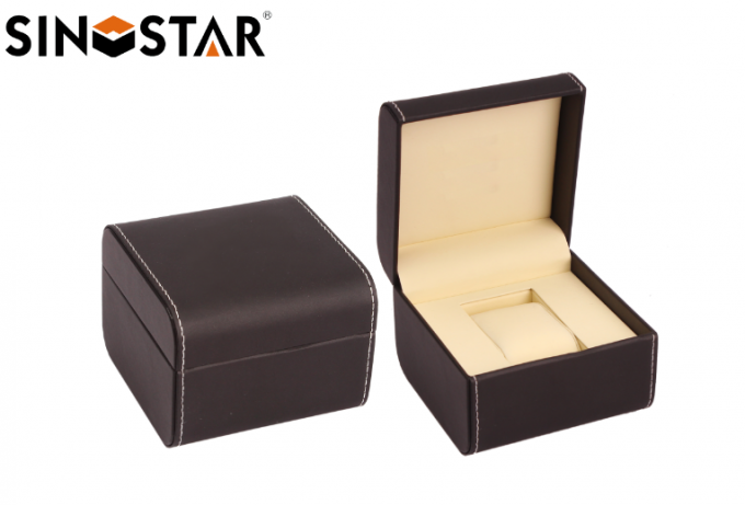 High End Style Leather Watch Box Luxury Waterproof Velvet For Presentation Gift