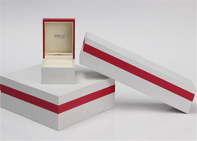 White & Red Modern Jewelry Box  , Plastic + Paper + Velvet Women'S Jewelry Box